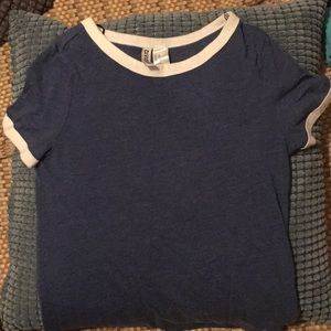 Divided H&M blue and white T shirt XS girls woman